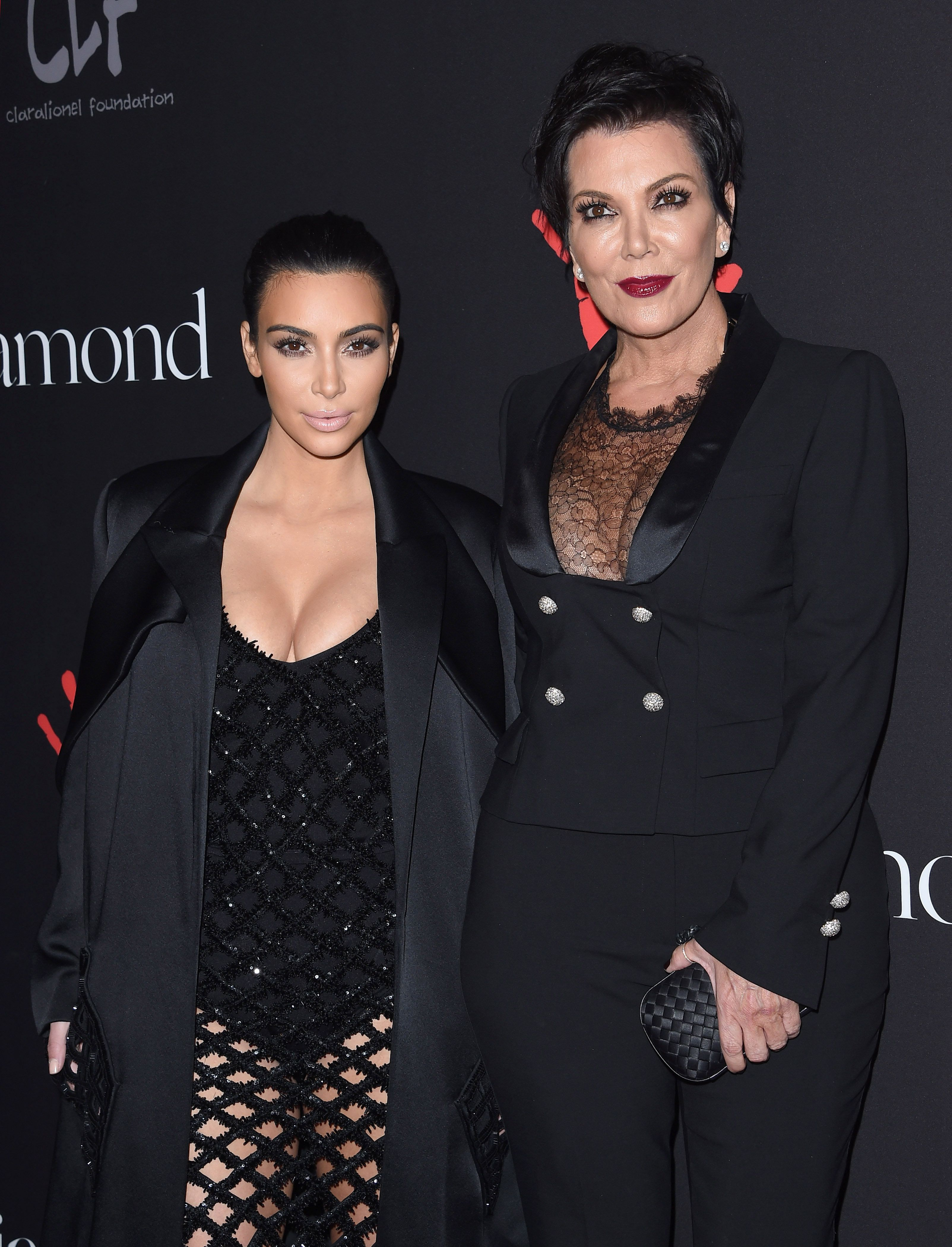 BEVERLY HILLS, CA - DECEMBER 11:  TV personalities Kim Kardashian and Kris Jenner arrive at Rihanna's First Annual Diamond Ball at The Vineyard on December 11, 2014 in Beverly Hills, California.  (Photo by Axelle/Bauer-Griffin/FilmMagic)