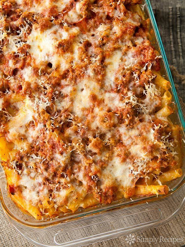 "<strong>Get the <a href=""http://www.simplyrecipes.com/recipes/baked_ziti/"">Classic Baked Ziti recipe</a> from Simply Rec"