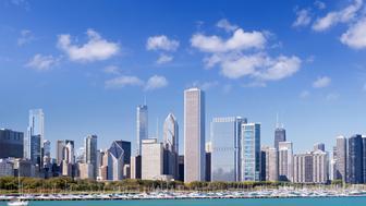 'Chicago skyline, USA'