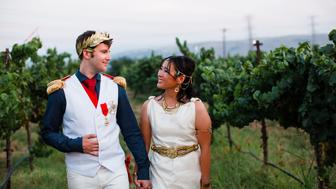 Donna Almendrala and Chris Joel tied the knot at a costume-themed wedding ceremony. They joined HuffPost Live to share all the details.