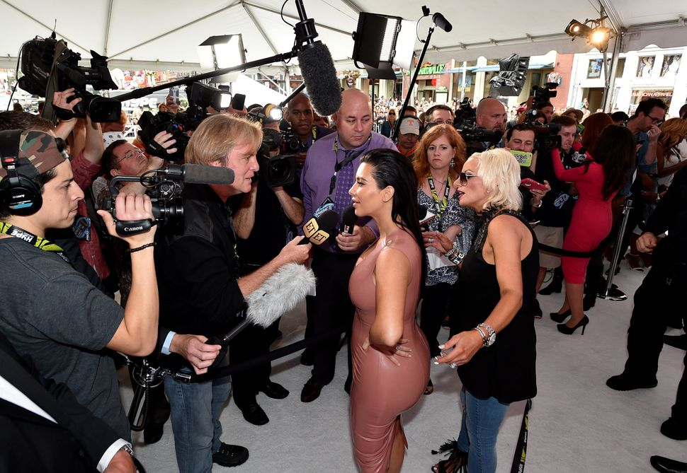 Kim Kardashian West attends the Hype Energy Drinks U.S. Launch on June 2, 2015 in Nashville, Tennessee. Complex editor Kerens