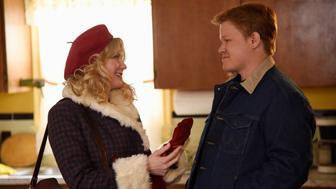 "Kirsten Dunst, left, and Jesse Plemons, right, in ""Fargo"" season 2."