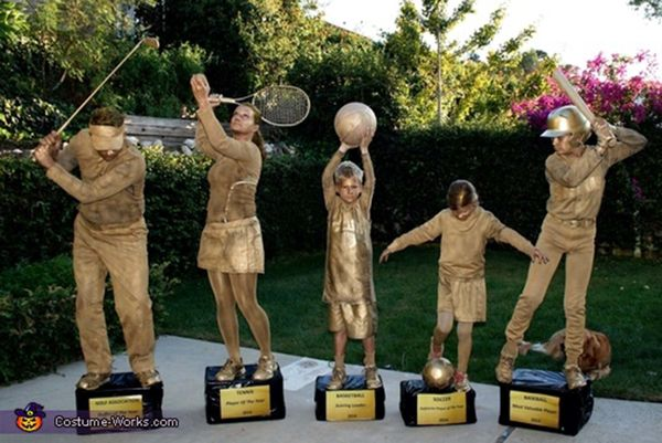 5 family trophy shelf - Family Halloween Costumes For 4