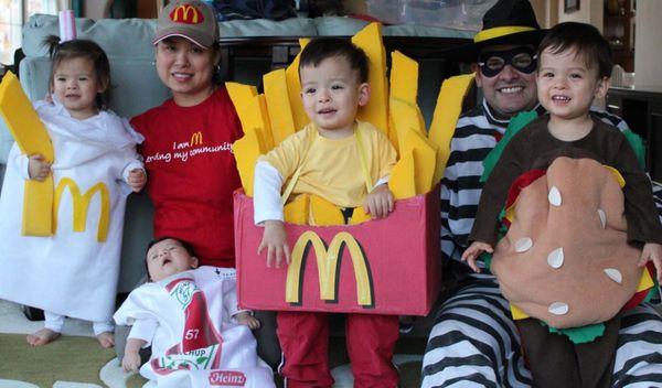 Halloween Family Costumes super mario luigi princess peach and toad costumes 3 Mcdonalds Family