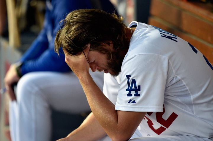 Kershaw after a disappointing seventh inning in Game One of the 2014 NLDS.