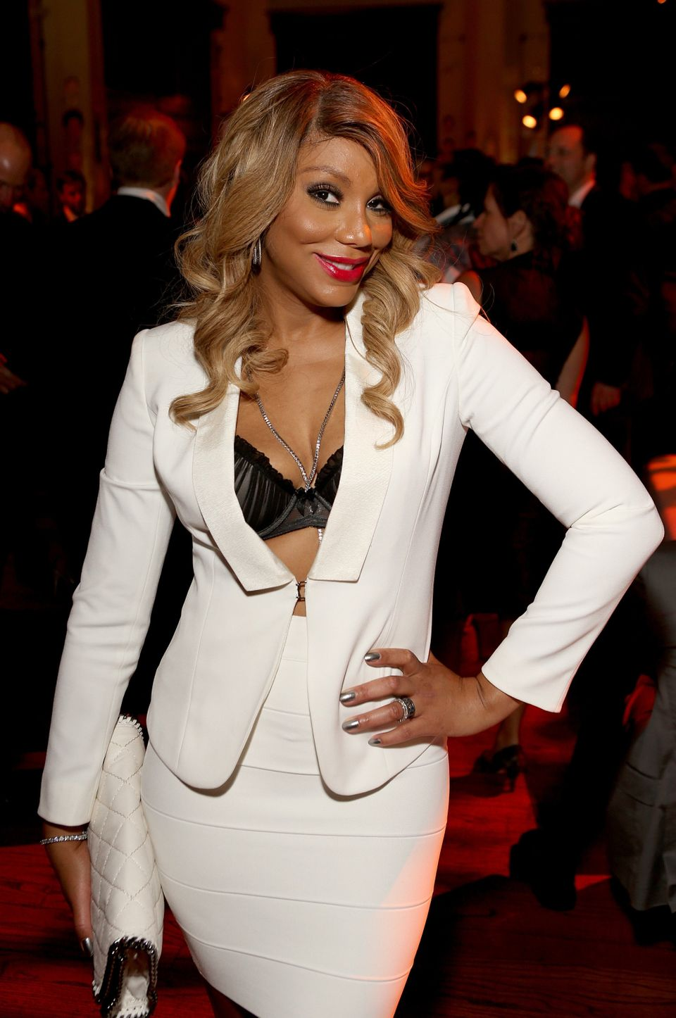 LOS ANGELES, CA - FEBRUARY 08:  Singer Tamar Braxton attends the Sony Music Entertainment 2015 Post-Grammy Reception at The P