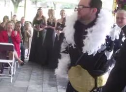 This Wrestler Fanatic Pins Down The Perfect Wedding Entrance