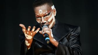 LONDON, ENGLAND - JUNE 21:  (SUN NEWSPAPER OUT. MANDATORY CREDIT PHOTO BY DAVE J. HOGAN GETTY IMAGES REQUIRED) Grace Jones performs at the British Summer Time 2015 at Hyde Park on June 21, 2015 in London, England.  (Photo by Dave J Hogan/Getty Images)