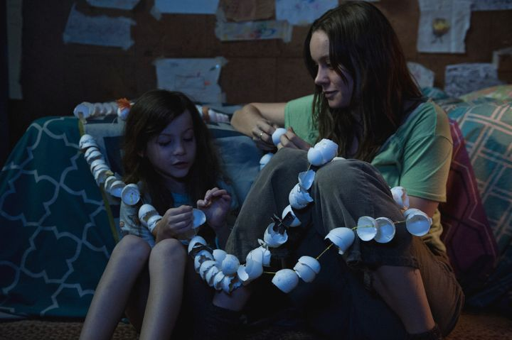 "Jacob Tremblay and Brie Larson star in a scene from ""Room."""