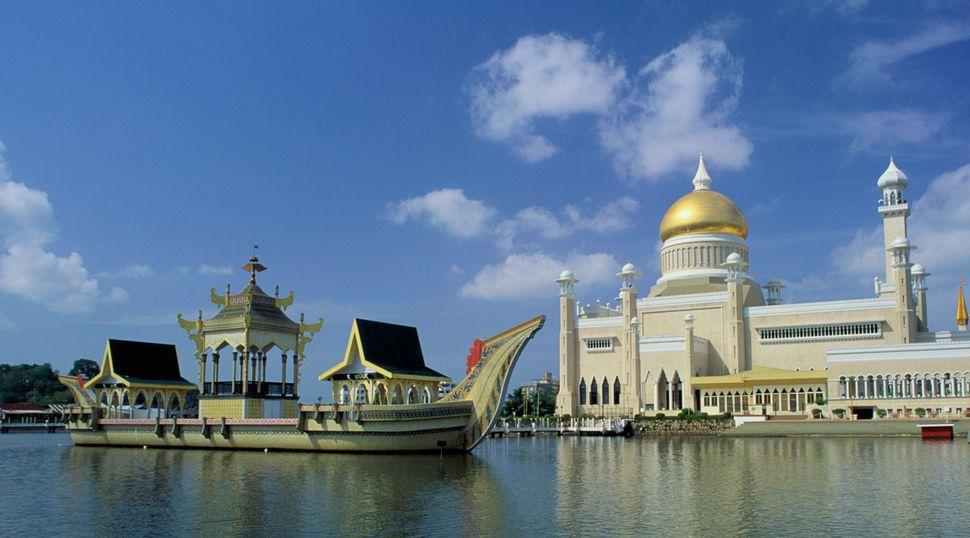 Brunei's Sultan Omar Ali Saifuddin Mosque. Homosexuality is illegal in the sultanate, which last year introduced Sharia law a