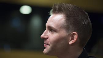 Austrian Max Schrems waits for a verdict at the European Court of Justice (SCJ) in Luxembourg, on October 6, 2015. The European Court of Justice (ECJ) on October 6, 2015 is to announce a verdict in the case of Schrems v Data Protection Commissioner of Ireland over Schrems's claims that his privacy data was allegedly violated Facebook within the scope of NSA mass surveillance programs. Austrian activist Schrems is suing for damages against the US firm on behalf of 25,000 Facebook users, arguing that Facebook collects and uses private data without adequate consent from users. Schrems also charges that Facebook has provided data to the National Security Agency (NSA), the US digital intelligence unit. AFP PHOTO / JOHN THYS        (Photo credit should read JOHN THYS/AFP/Getty Images)