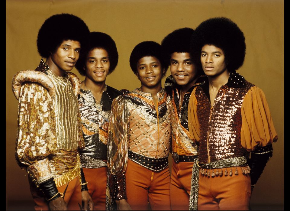 (L-R) Jackie Jackson, Marlon Jackson, Randy Jackson, Tito Jackson and Michael Jackson of the Jacksons (aka Jackson Five) pose