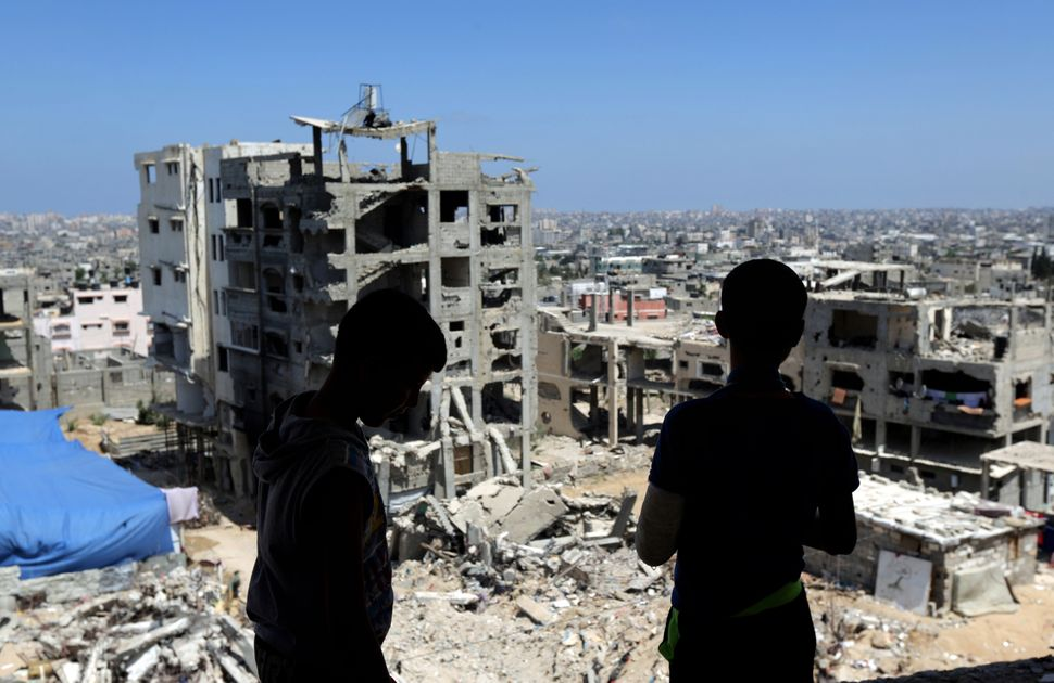 Much of Gaza City's Shujaiyeh neighborhoodwas destroyed in the 2014 war.