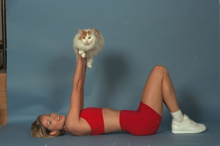 Bad the cat helped fitness buff Stephanie Jackson develop the exercuse routine called Catflexing.