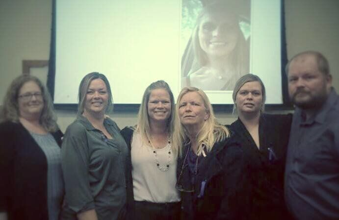 """Monica Weber-Jeter'ssister-in-law, sisters, mother and brotheradvocate for """"Monica's Law."""""""