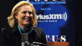 WASHINGTON, DC - OCTOBER 05:  Ann Romney speaks with Julie Mason during 'Ann Romney In Conversation With Host Julie Mason For SiriusXM's 'Leading Ladies' Special' at SiriusXM Studio on October 5, 2015 in Washington, DC.  (Photo by Larry French/Getty Images for SiriusXM)