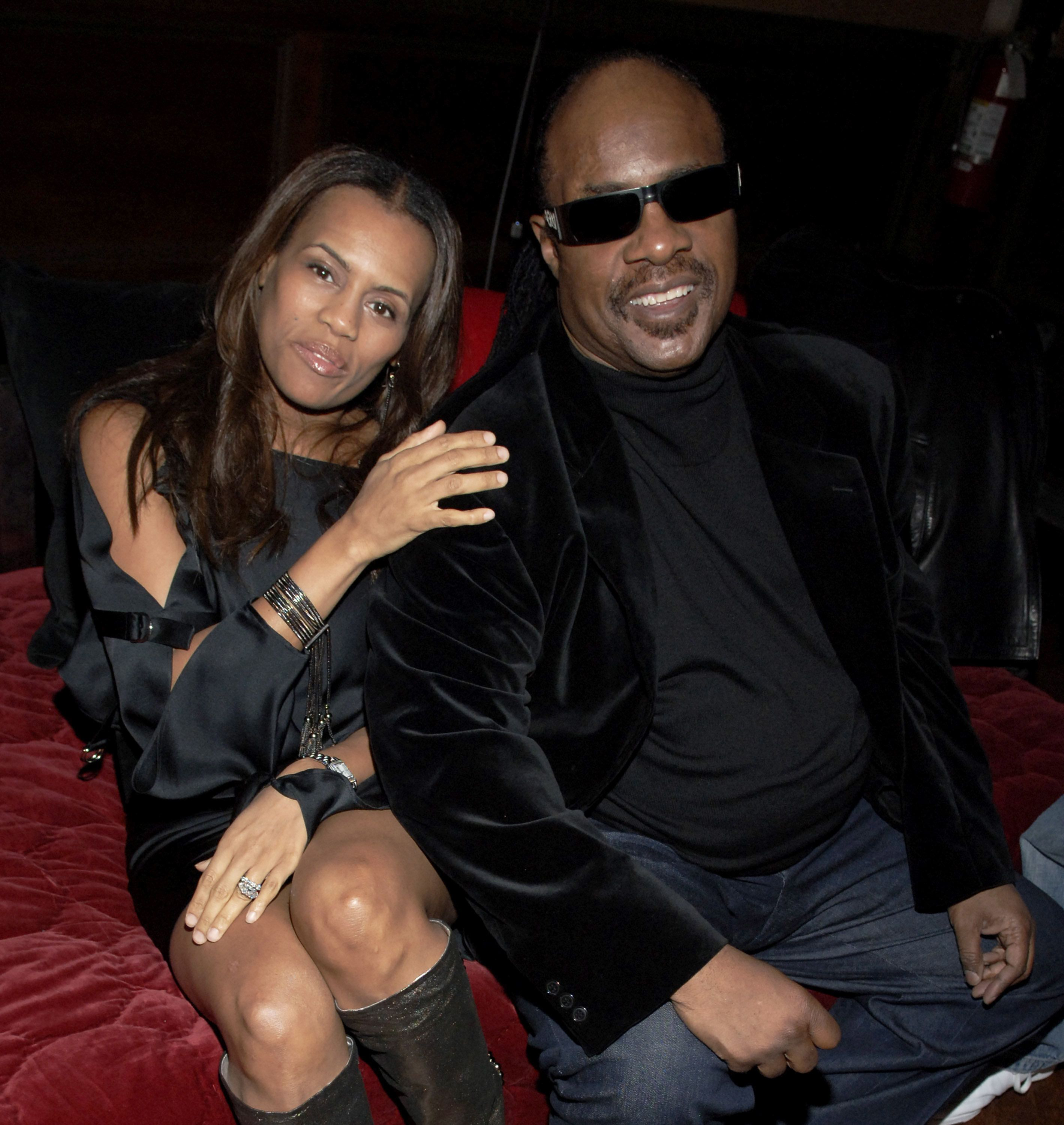 Kai Milla and Stevie Wonder at the The Prince George Ballroom in New York City, New York (Photo by Jemal Countess/WireImage)