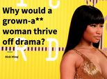 Nicki Minaj Shuts Down The Myth That Women 'Thrive' Off Drama