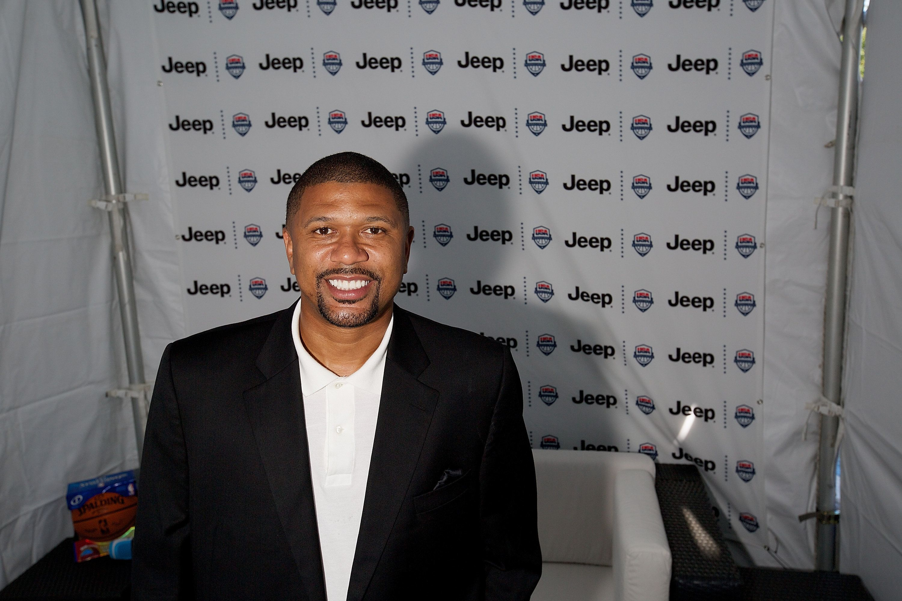 CHICAGO, IL - AUGUST 15:  Former NBA player Jalen Rose attends Kyrie Irving, Jalen Rose, and Jalen Rose Leadership Academy Students Celebrate the Summer of Jeep at Navy Pier on August 15, 2014 in Chicago, Illinois.  (Photo by Jeff Schear/Getty Images for Jeep)