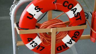HONOLULU, HI - JUNE 13:  (FEATURE STORY - HONOLULU COAST GUARD PATROLS 7 OF 9) A life saver ring is shown June 13, 2002 aboard a Coast Guard boat on patrol in Honolulu Harbor, Hawaii. The Coast Guard has warned  U.S. ports and ships of a possible terrorist attack by swimmers or divers. The Bush administration warned in May 2002 of possible terrorist activity by scuba divers.  (Photo by Phil Mislinski/Getty Images).