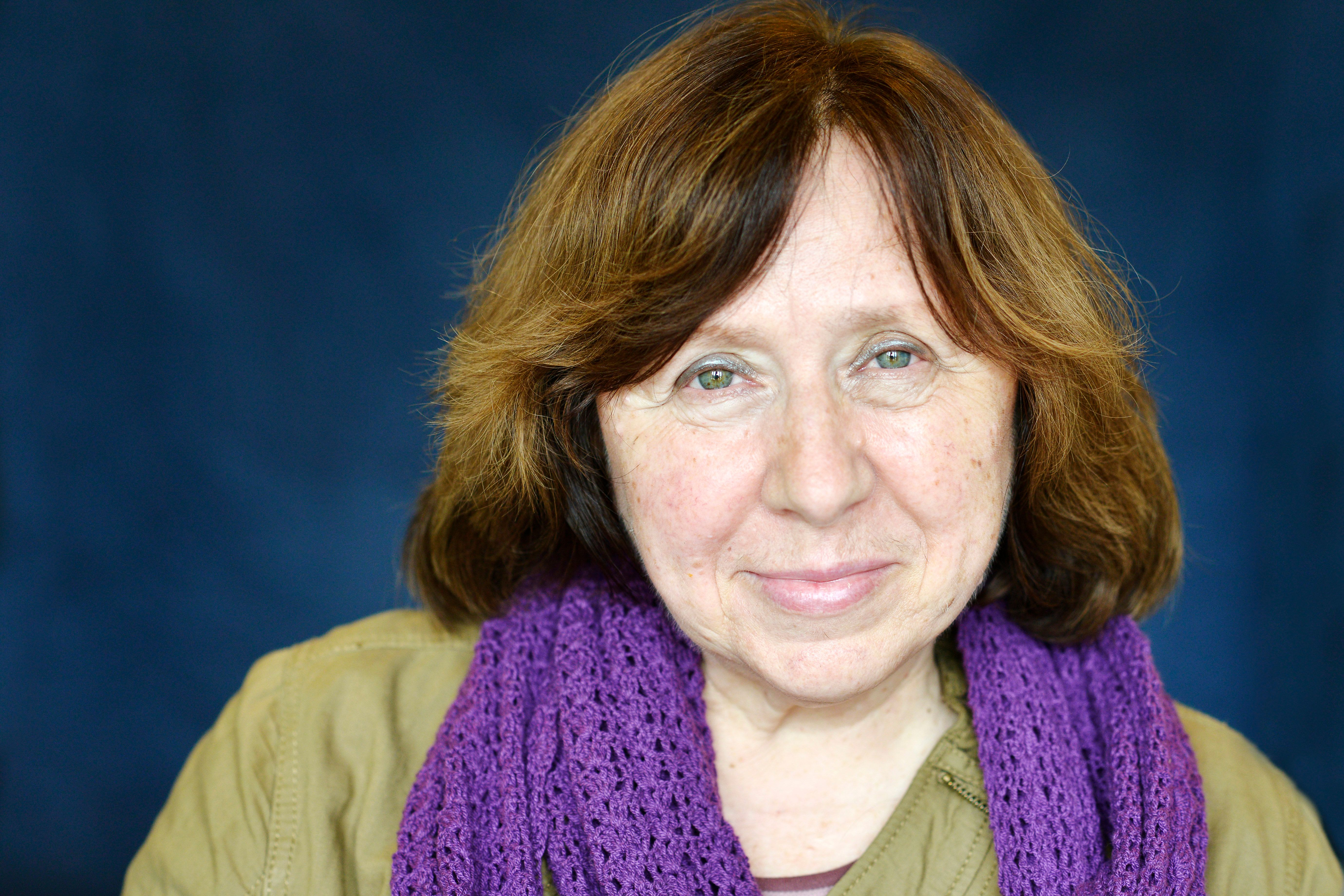 LYON, FRANCE - MAY 22:  Russian writer Svetlana Alexievich poses during a portrait session held on May 22, 2014 in Lyon, France. (Photo by Ulf Andersen/Getty Images).