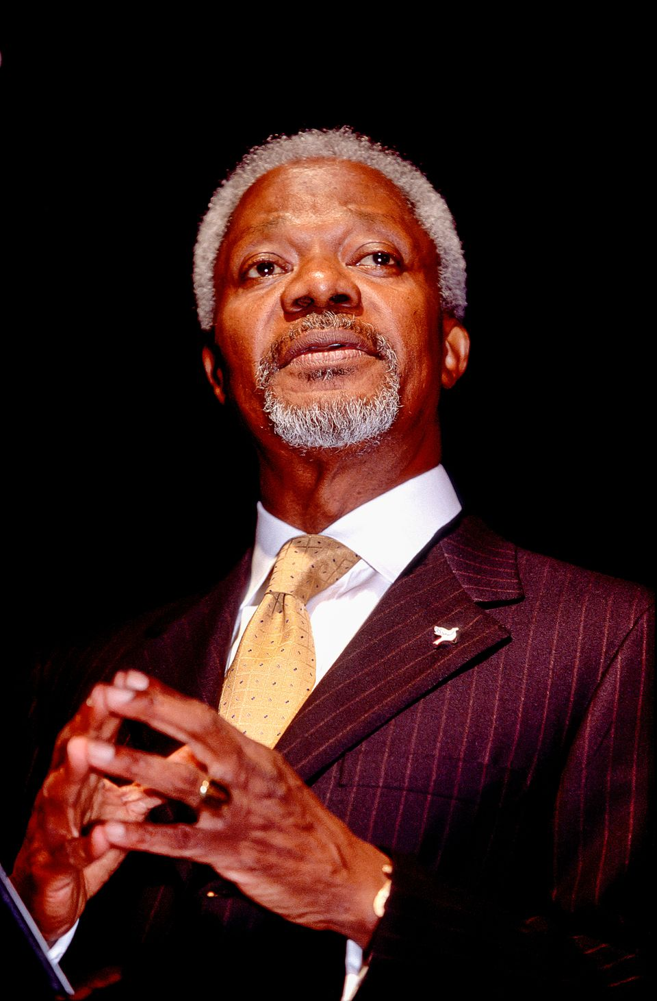 Ghanaian diplomat and Secretary-General of the United Nations, Kofi Annan introduces 'For Dancers Only,' an evening of Swing