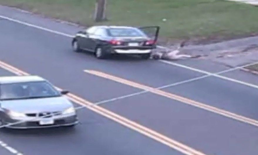 Connecticut police say a 17-year-old girl narrowly escaped abduction by jumping from a moving car.