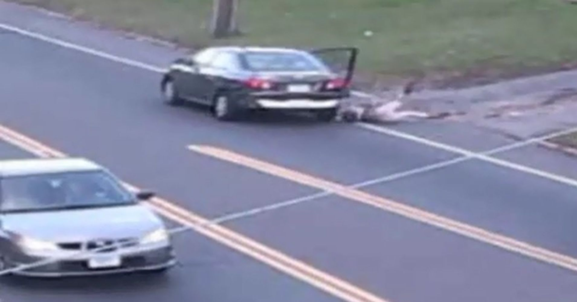 Girl Jumps Out Of Car While Driving