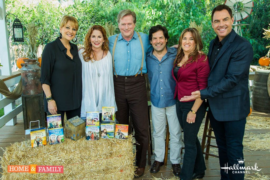 """It's our """"Little House on the Prairie"""" reunion show! Mark Steines and Cristina Ferrare welcome actors Melissa Gilbert, Dean Butler, Matthew Labyorteaux, and Lindsay Greenbush. Melissa Gilbert cooks gingersnap pumpkin pie. Michael Landon Jr. and Leslie Landon pay tribute to their late father, actor Michael Landon. We visit the old shooting locations with actress Alison Arngrim. Debbie Matenopoulos honors the memory of Laura Ingalls Wilder, the author of the """"Little House on the Prairie"""" books. Christmas is coming early. Dean Butler is making a DIY Christmas tree stand. Tanya Memme and Paige Hemmis team up for a creative covered wagon tablescape. Kym Douglas is sharing prairie herbs and making lemon verbena perfume. And, save money with Sandie Newton and Hollywood Steals!  Credit:  Copyright 2015 Crown Media United States, LLC/Photographer:  jeremy lee/Alexx Henry Studios, LLC"""