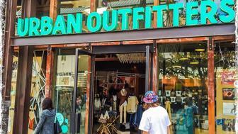 Santa Monica, Ca - January 30, 2015. An Urban Outfitters storefront alongside the Santa Monica promenade pedestrian only street.