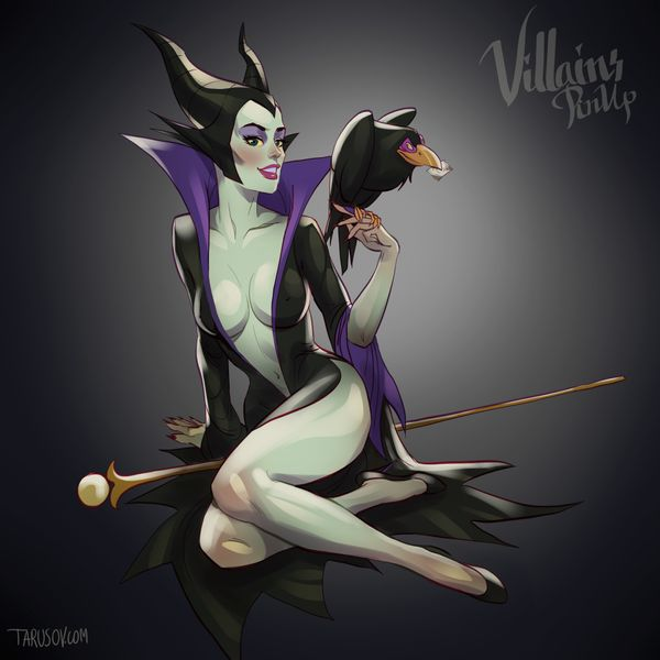 Disney Villains As Pinup Girls Will Put A Spell On You...