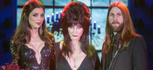Horror Icon Elvira Marries Boy And Ghoul