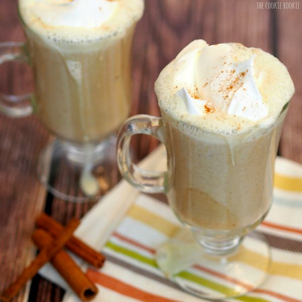 "<strong>Get the <a href=""http://www.thecookierookie.com/hot-pumpkin-pie-cocktail/"">Hot Pumpkin Pie Cocktail recipe</a> f"