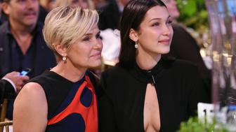 NEW YORK, NY - OCTOBER 08:  Yolanda Foster (L) and Bella Hadid attend the Global Lyme Alliance 'Uniting for a Lyme-Free World' Inaugural Gala at Cipriani 42nd Street on October 8, 2015 in New York City.  (Photo by Dimitrios Kambouris/Getty Images for Global Lyme Alliance)