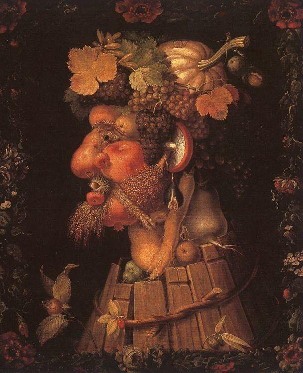 "<a href=""https://commons.wikimedia.org/wiki/File:Arcimboldo,_Giuseppe_~_Autumn,_1573,_oil_on_canvas,_Mus%C3%A9e_du_Louvre,_Pa"