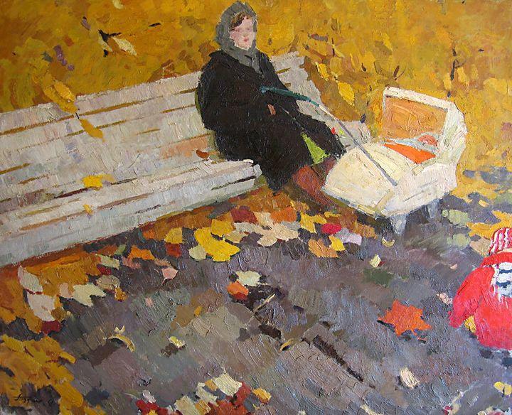"<a href=""https://commons.wikimedia.org/wiki/File:Pozdneev-Autumn-aka05bw.jpg"">Nikolai Matveevich Pozdneev, ""Autumn Day,"" 1961"