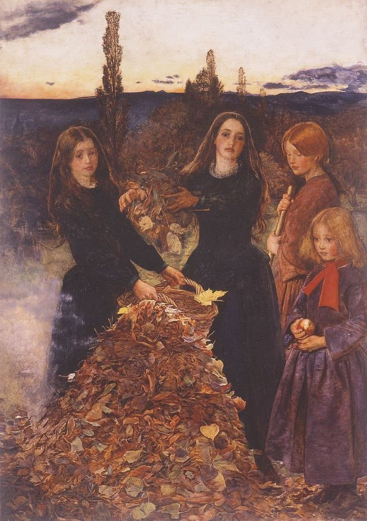 "<a href=""https://commons.wikimedia.org/wiki/File:John_Everett_Millais_-_Autumn_Leaves.jpeg"">John Everett Millais, ""Autumn Lea"