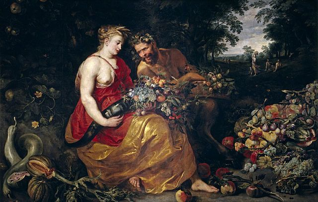 """<a href=""""https://commons.wikimedia.org/wiki/File:Ceres_and_Pan.jpg"""">Peter Paul Rubens&nbsp;and&nbsp;Frans Snyders, """"Ceres and"""