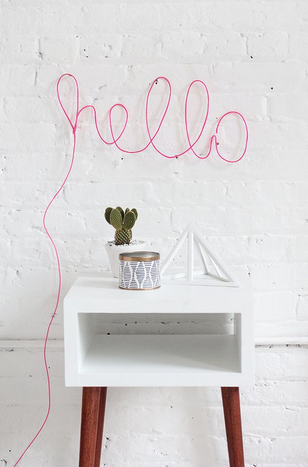 "<a href=""http://ispydiy.com/my-diy-neon-letter-light/"" target=""_blank"">Liven up your home with this surprisingly easy neon li"