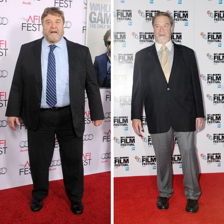 John Goodman in November 2014 and October 2015.
