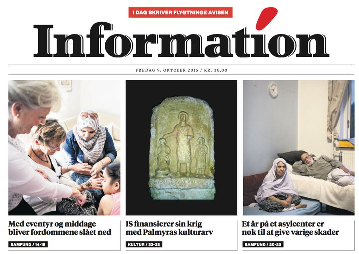 The Dagsbladet Information, a daily newspaper in Denmark, handed over full editorial control to 12 refugees in a special issu
