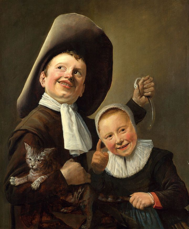 """<a href=""""https://commons.wikimedia.org/wiki/File:Judith_Leyster_A_Boy_and_a_Girl_with_a_Cat_and_an_Eel.jpg"""">Judith Leyster, """""""