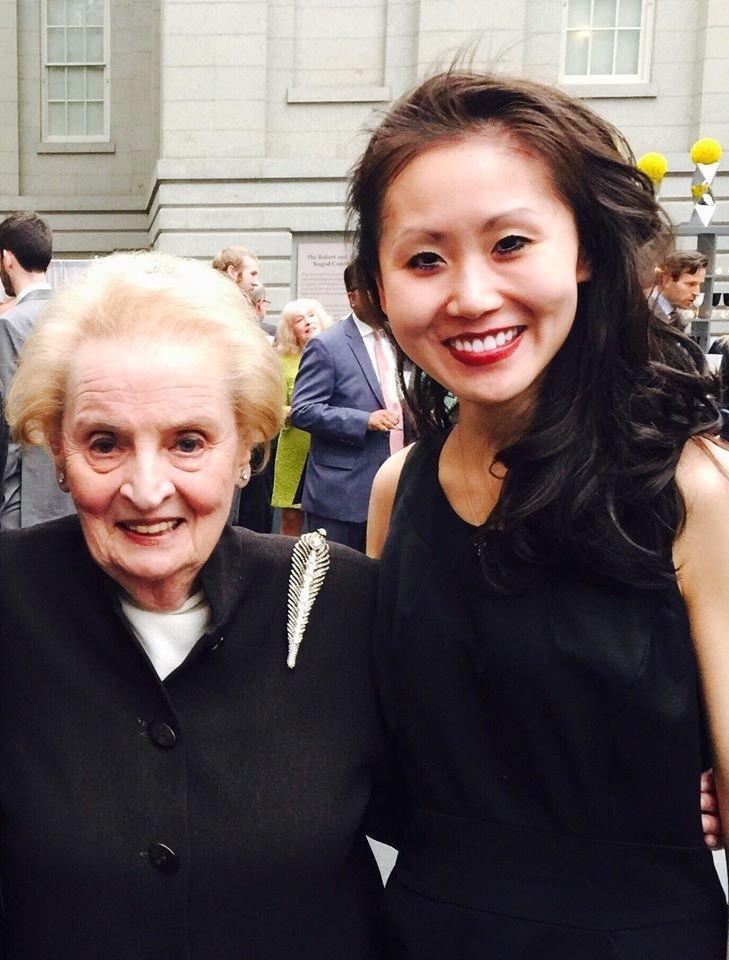 Li with former Secretary of StateMadeleine Albright