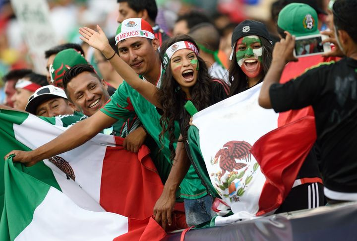 Mexico soccer fans at a Gold Cup match in Philadelphia in July.