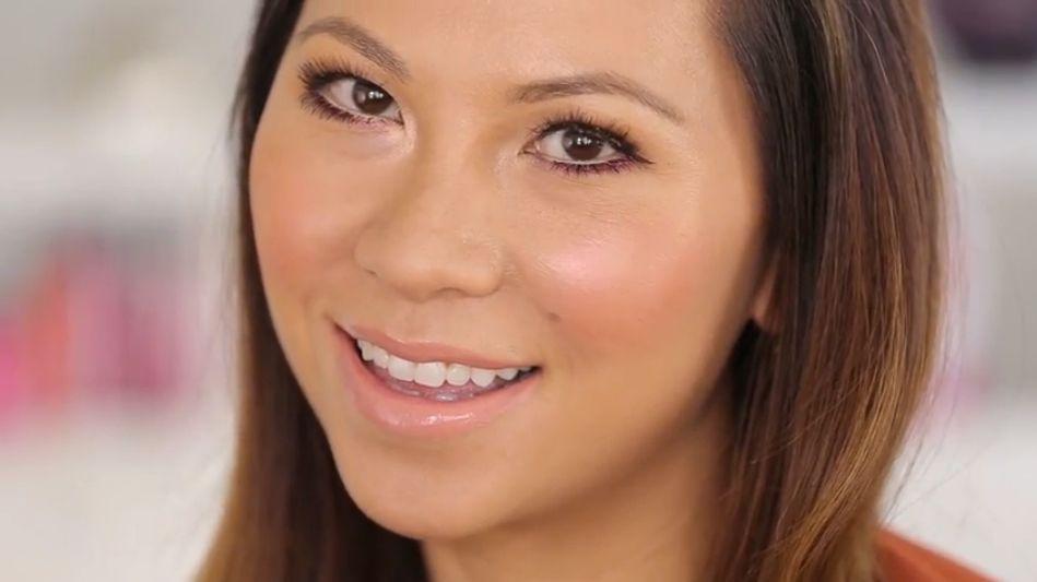 "Celebrity makeup artist Nam Vo demonstrates how to do ""hologram blush."""