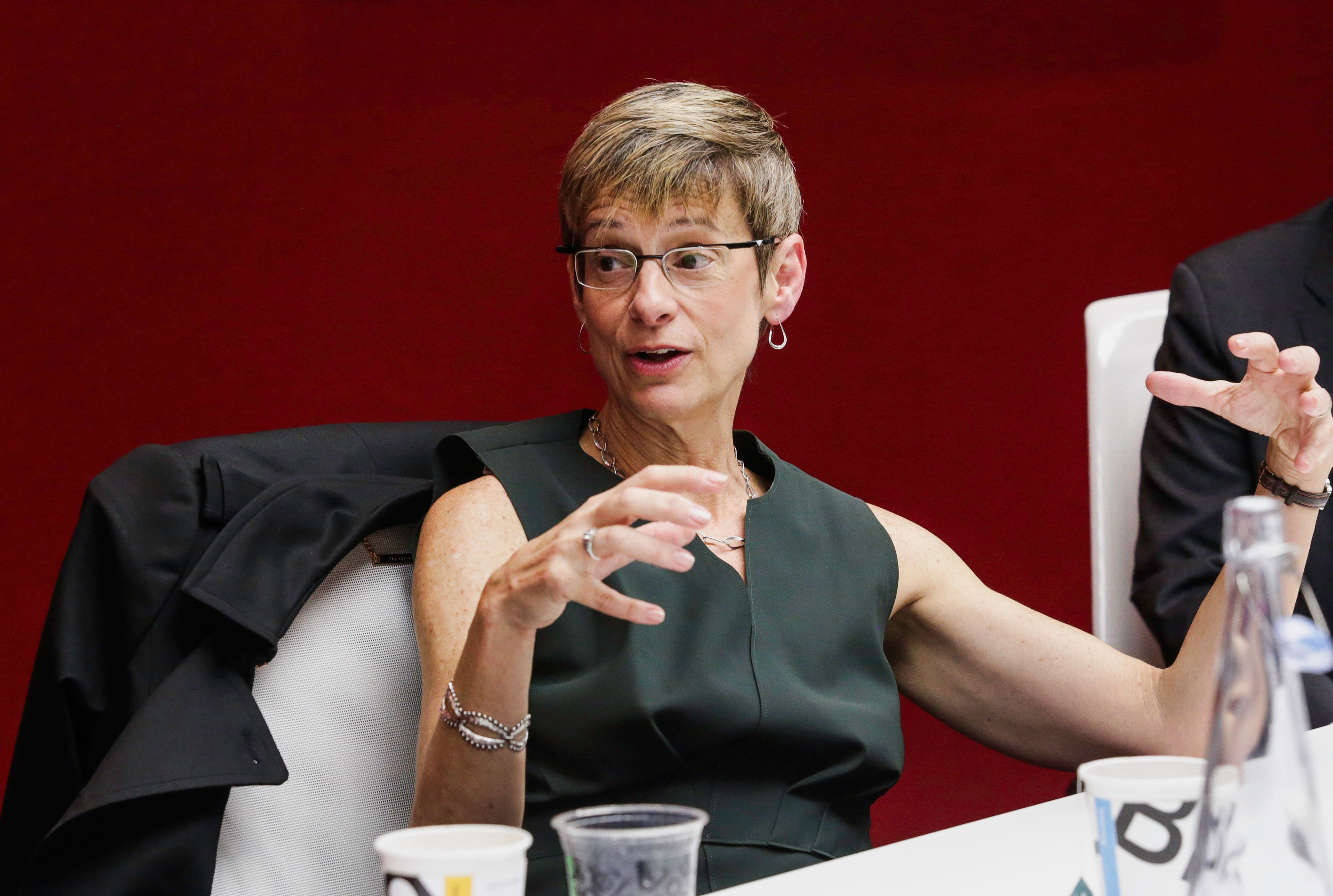 Cornell University President Elizabeth Garrett wants students to get a full night of sleep and take breaks from their ce