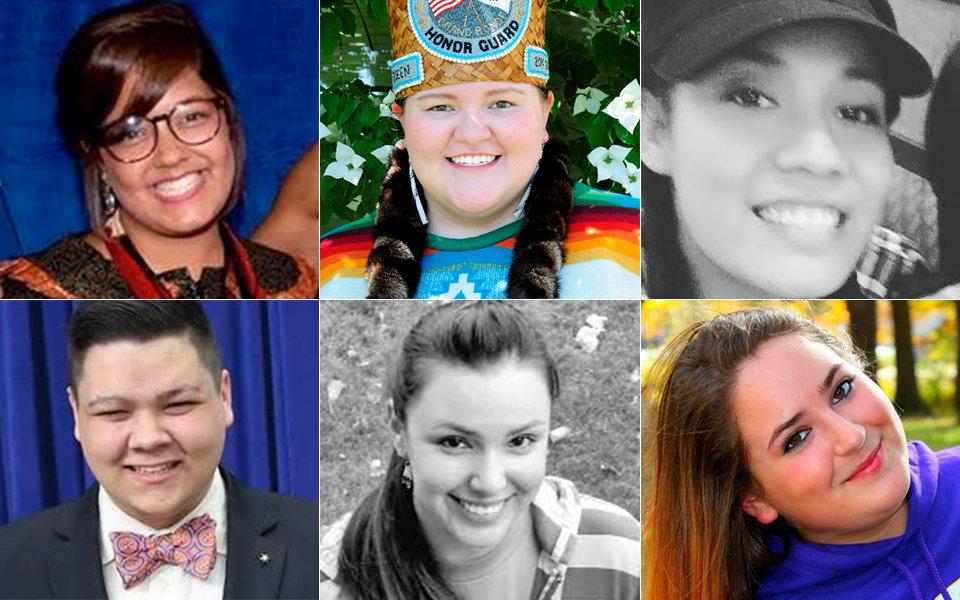 From left:Leslie Locklear, Savannah Ingram, Jessica Bernardino, Teddy McCullough, Celeste Terry, Breanna Potter.