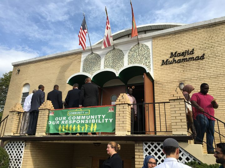 People gather for a prayer service at the Masjid Muhammad Islamic center in Washington, D.C., on Oct. 9, 2015.