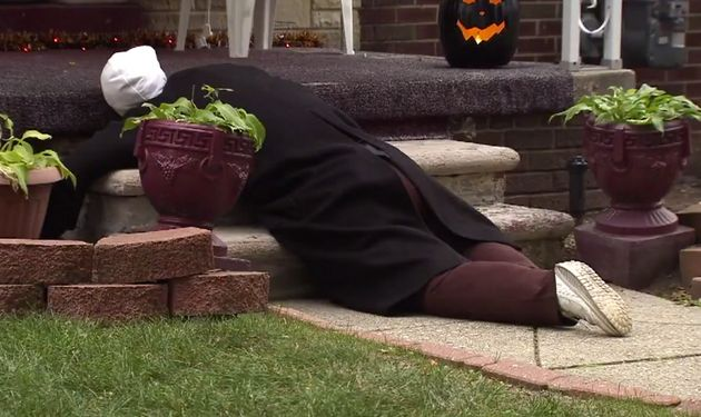 Woman's Face-Down Halloween Dummy Gets Repeated 911 Calls...