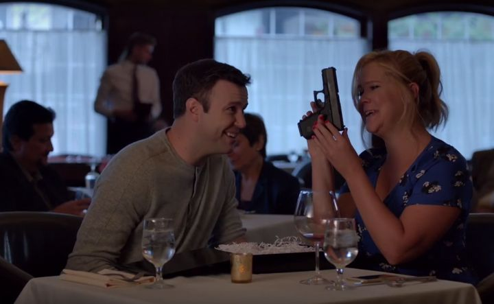 """Amy Schumer and the cast of """"SNL"""" tackled the issue of gun control in a mock PSA."""